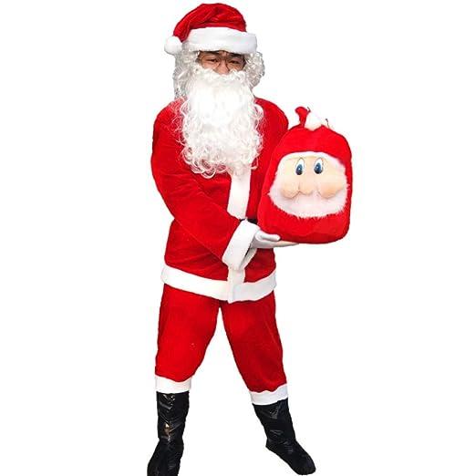 FAFY Navidad Disfraz De Papa Noel Santa Claus, Traje De Papá ...