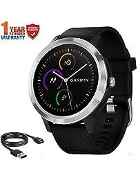 Garmin Vivoactive 3 GPS Smartwatch Negro Reloj Inteligente, Negro, (Black Stainless)
