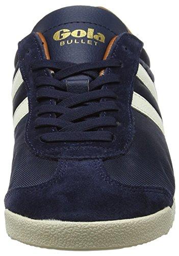 Blu Ecru Navy Orange Gola Uomo Nylon Bullet Sneaker fIAFHz