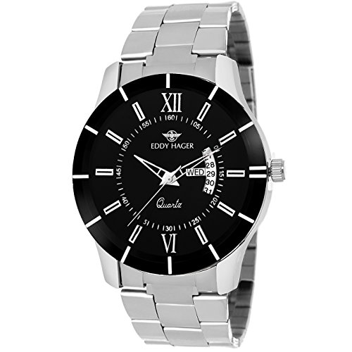 Eddy Hager Black Day and Date Men's Watch EH-206-BK