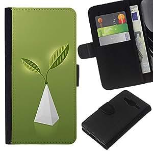 A-type (Pirámide de la Vida) Colorida Impresión Funda Cuero Monedero Caja Bolsa Cubierta Caja Piel Card Slots Para Samsung Galaxy Core Prime