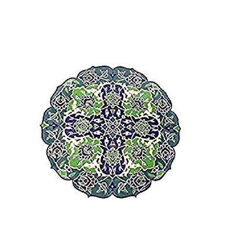 Handmade Turkish Ceramic Pottery Tile Trivet Hot-Plate Large 11