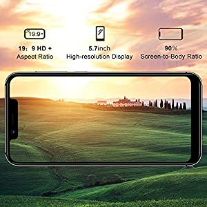 UMIDIGI A3 Pro GSM Unlocked Cell Phones 3GB+32GB(Expandable Storage to 256G) 5.7″ inch 19:9 Full-Screen Display 12MP + 5MP Dual Camera Global Band Dual 4G LTE 2 + 1 Card Slots Android 9.0(Gray)