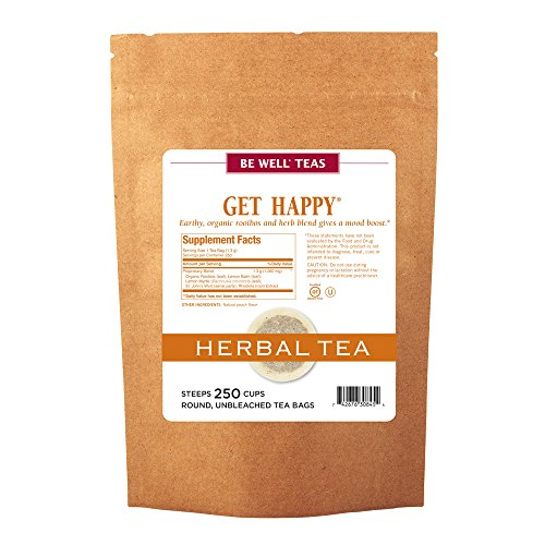 The Republic Of Tea Be Well Red Rooibos Tea - Get Happy - No.13 Tea For Lifting Your Spirits, 250 Tea Bag Bulk