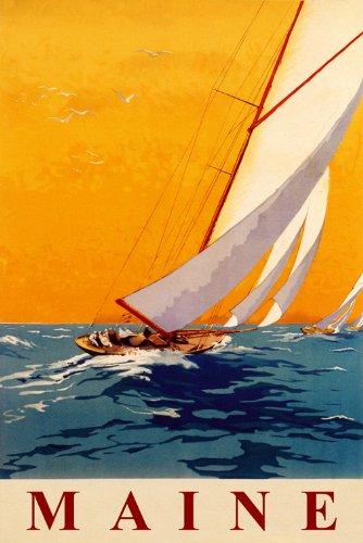 - MAINE SAILBOAT SPEED SAILING NAUTICAL SPORT SAIL OCEAN WIND 12