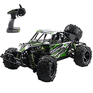 Fistone RC Car High Speed Racing Vehicle RTR Monster Truck 2.4G 4WD Rock Crawler Off Road Dune Buggy Big Foot Full Scale Remote Control Hobby Toys for Kids