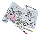 12 - Camping / Woodland Animal Coloring Rolls with Crayons Sets - CAMPING PARTY FAVORS