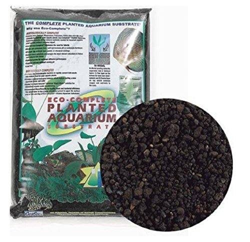 CaribSea Eco-Complete 20-Pound Planted Aquarium Black, New!!! (Ecosystem Aquarium Eco Calcium)