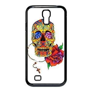Samsung Galaxy S4 9500 Cell Phone Case Black Sugar Skull Cover NZO Back Protective Phone Case