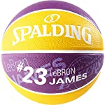 Spalding-Pallone-da-Basket-NBA-Giocatore-Lebron-James-SZ7-83-848Z-Unisex-Colore-ViolaGiallo-7