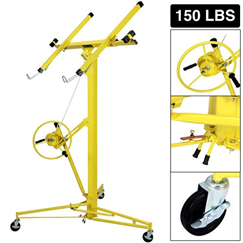 Idealchoiceproduct 16' Drywall Lift Rolling Panel Hoist Jack Lifter Construction Caster Wheels Lockable Tool ()