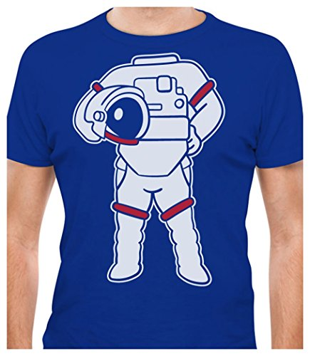 TeeStars - Astronaut Easy Costume - Space Suit Print Funny T-Shirt XX-Large (Funny Space Costumes)