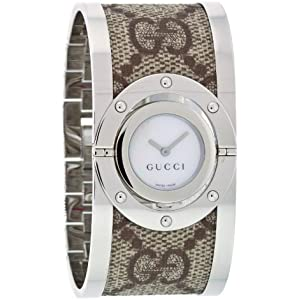 GUCCI Womens YA112418 Twirl Bangle Quartz Watch