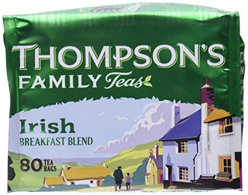 Punjana Tea Ltd Tea, Irish Breakfast, 80-Count (Pack of 4) ()