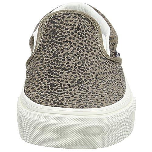 08ba7cd0d7 Vans Unisex Classic Slip On Cheetah Suede Skate Shoe-Cheetah Suede Tan-5