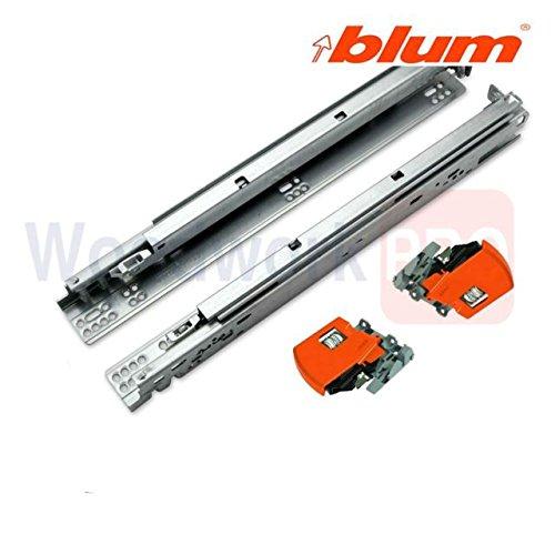 Blum 563F5330B TANDEM Plus BLUMOTION Full Extension Concealed Drawer Slides for, Zinc Plated