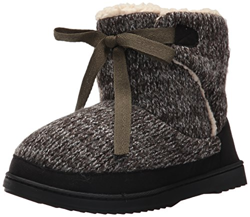 Front Tie Women's Knit Marled Black Boot Dearfoams pCSPqxzO