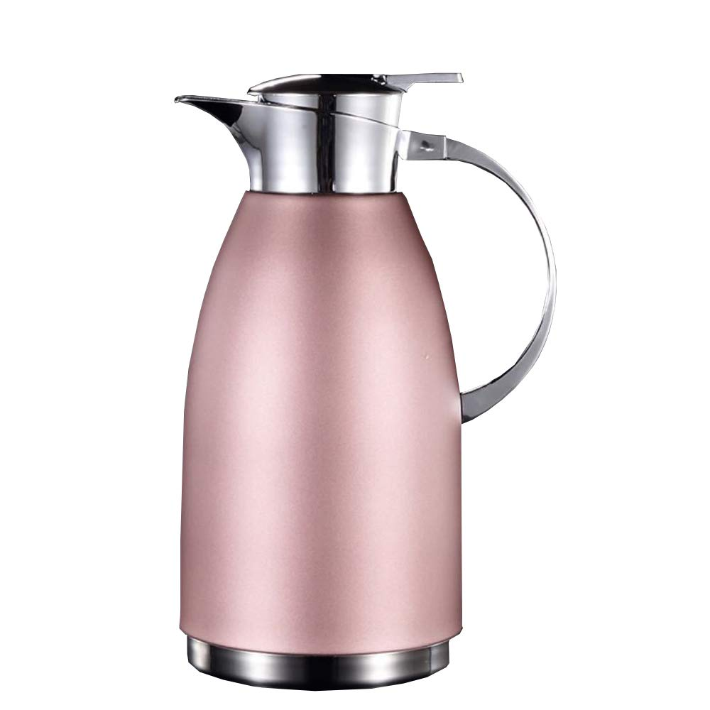 Thermal Carafes 2L Thermos Inside and Outside 304 Stainless Steel Insulation Kettle Household Hot and Cold Double Vacuum