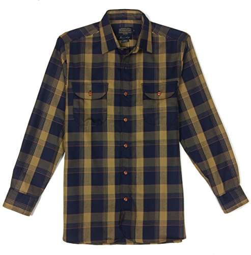 Pendleton Men's Worsted Buckley Fitted, Navy/Olive Plaid, Medium