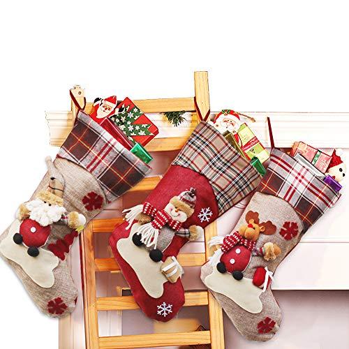 - Dreampark Christmas Stockings, Big Size 3 Pcs 18