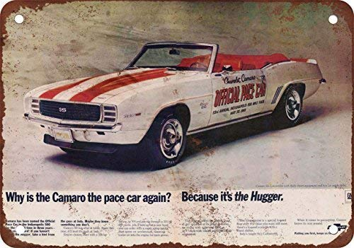 1969 Camaro SS Indy Pace Car Vintage Look Reproduction Metal Tin Signs Decoration for Home Bar Garage Store Yard Office Sign