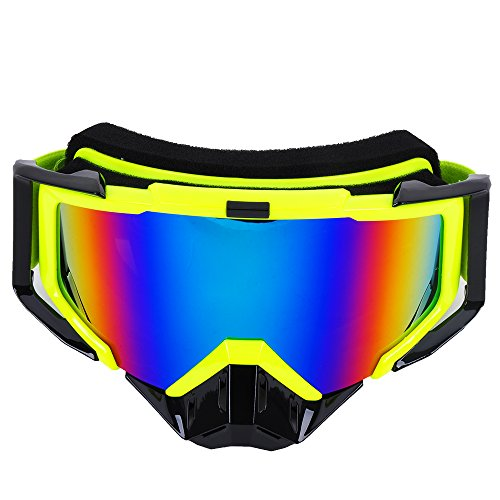 Off Road Atv Exhaust - MotorFansClub Adult Motorcycle ATV Off Road Dirt Bike Racing Safety Goggles Screen Filter(LHP,Yellow)