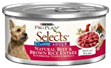 Purina Pro Plan Selects Classic Adult Dog Food, Natural Beef and Brown Rice Entree, 5.5-Ounce Cans (Pack of 24), My Pet Supplies