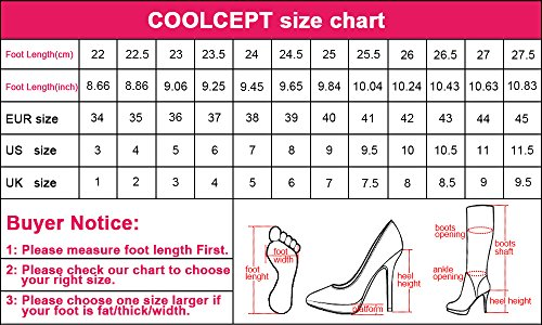 COOLCEPT Women's Fashion Block Heel Ankle Boots Shoes Bootie Pumps Blue XTw1SS