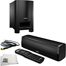 Bose CineMate 15 Home Theater Speaker System (Black) + 12 Feet Digital Optical Audio Toslink Cable + Microfiber Cleaning Cloth