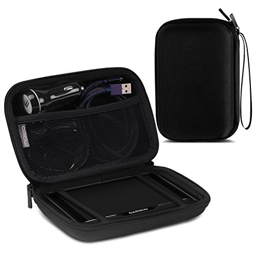 Moko 5 Inch Gps Carrying Case  Portable Hard Shell Protective Pouch Storage Bag For Car Gps Navigator Garmin   Tomtom   Magellan With 5  Display   Black