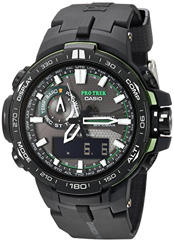 Casio Men's Pro Trek PRW-6000Y-1ACR Solar Powered Black Analog-Digital Sport Watch