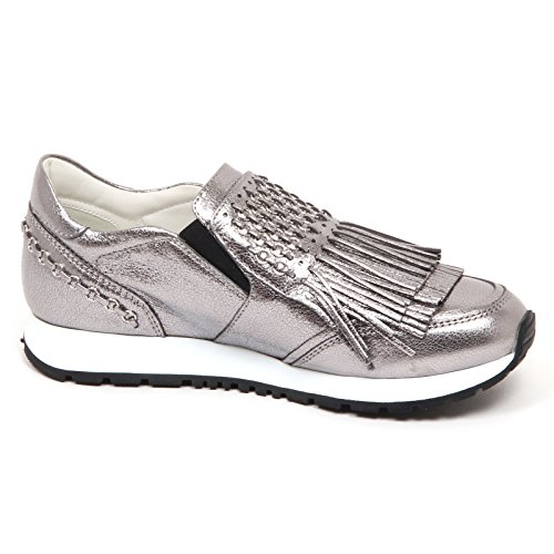 Slip Shoe Donna Woman Sneaker Cracked Platinum Crepato On Effect E5168 Tod's Platino 8qCwgg