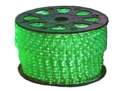 Green LED Round Rope Lights 3/8 inch - 150 feet
