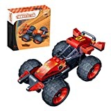 Kids Racing Car Construction Building Blocks and Bricks Intelligence Learning and Activity Toys for Children Girls Boys Age Over 4 Years Old, Model 8601, 81pcs