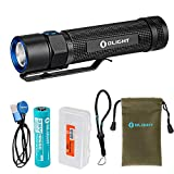Olight S2R 1020 Lumen Rechargeable LED Flashlight with Magnetic Charger, Olight 3200mAh battery, and LumenTac Battery Organizer For Sale
