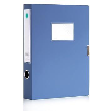 Archivadores de palanca A4 Portadocumentos Carpeta,carpeta de Velcro de plástico azul 50mm Capacidad de almacenamiento: Amazon.es: Oficina y papelería