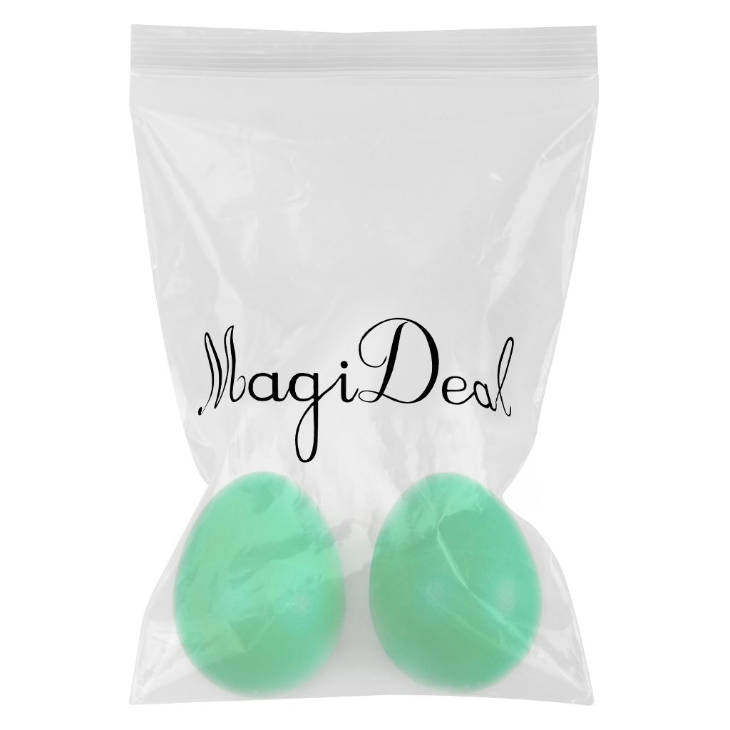 1 Pair Plastic Percussion Musical Egg Maracas Shakers (Green) Generic SHOMPFL1400