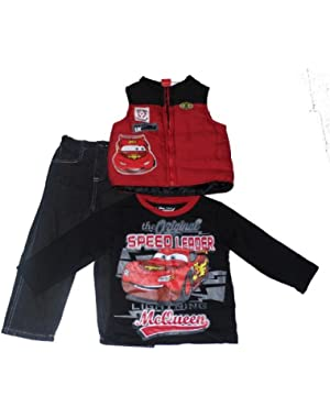 Cars Toddler Boys 3pc Vest Set Red