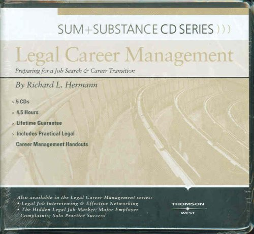 Sum and Substance Audio Series on Legal Career Management by West Academic Publishing