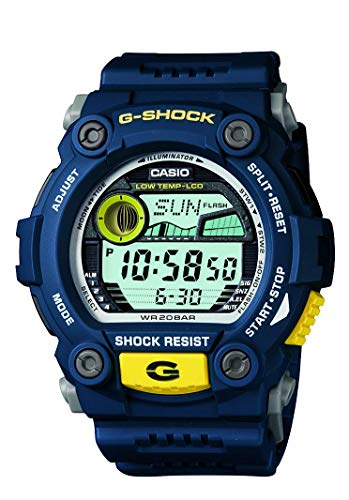 Casio Men's XL Rescue Series G-Shock Quartz 200M WR Shock Resistant Resin Color: Blue (Model G-7900-2CR) (Crystal Heart Watch Leather Band)
