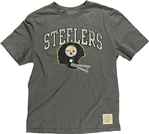 (Pittsburgh Steelers Button Hook Slimmer Fit Retro T Shirt By Reebok (XL=46))