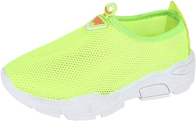 Exgingle Kids Boys Girls Mesh Breathable Anti-Slip Sneakers Infant First Walking Sock Shoes