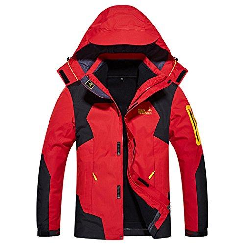 cfb8bee36 Dnstar Men s 3in1 Fleece Big and Tall Jackets Winter Coats Red 3XL ...