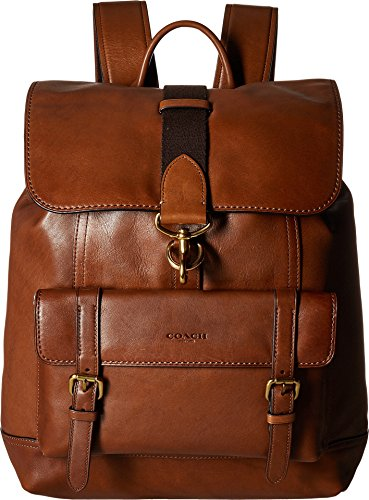 COACH Men's Bleecker Backpack Ol/Dark Saddle One Size
