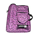 Camouflage Sketching Bag Art Supplies Holder Painting Accessory Organizer-Purple
