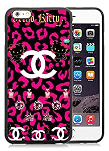 Fashion And Beautiful Custom Designed With CHANEL Logo Cover Case For iPhone 6 Plus 5.5 Inch Phone Case 67 Black