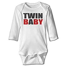 Missone Newborn Twin Baby Long Sleeve Bodysuit Baby Onesie