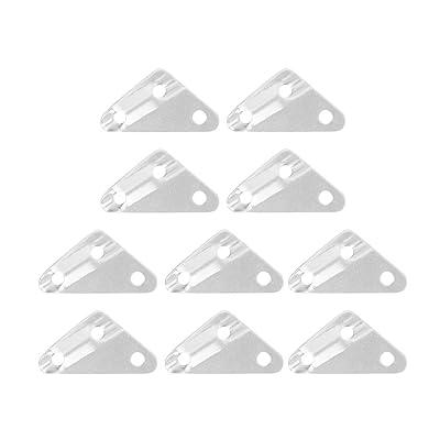 10pcs Fixation de Corde Coureur Tendeur de Hauban pour Tente Camping Randonnée Taille M - d'Argent