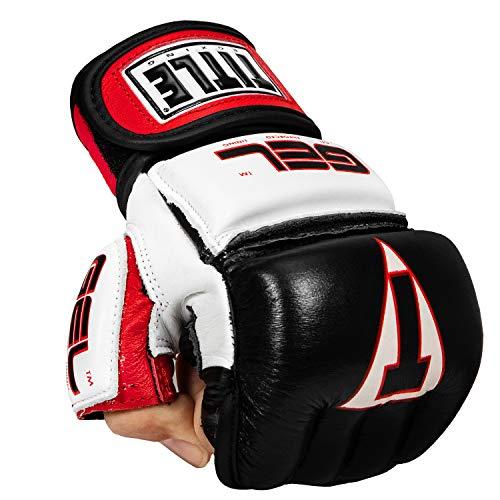 Title Gel Incensed Wristwrap Heavy Bag Gloves, Black/White/Red, Regular