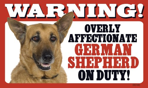 Warning Overly Affectionate German Shepherd On Duty - Pit Patriotic Bulldog